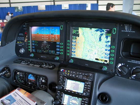 Interior of Cirrus SR22