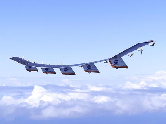 NASA's Helios researches solar powered flight.