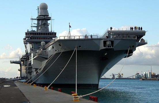 The Italian aircraft carrier Cavour