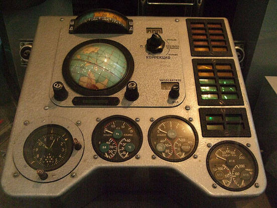 Part of the Vostok 1 control panel