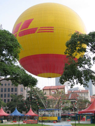 The DHL Balloon is the world's largest tethered helium balloon.