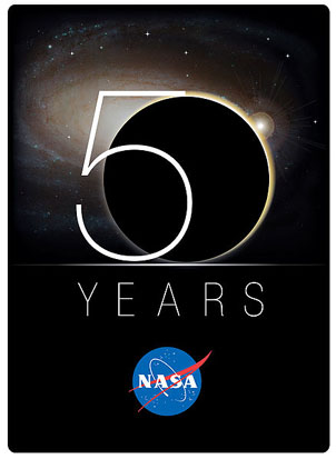 NASA's 50th Anniversary Logo.