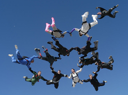 12-Way Formation With Video Over Chicagoland Skydiving Center