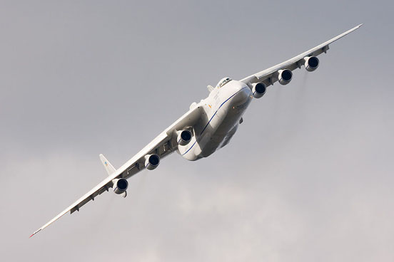 Antonov An-225, the largest airplane ever built.
