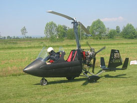 A Super Genie Autogyro readying for take-off