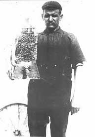 Gustave Whitehead with an early engine.