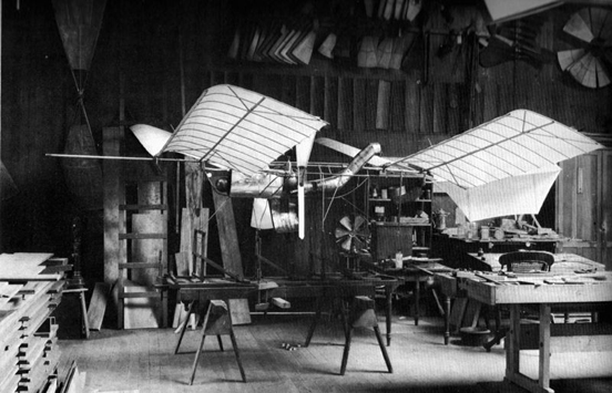 Langley's 1/4-scale model; it flew several hundred yards on August 8, 1903.