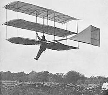 Whitehead in the air in his Glider 1