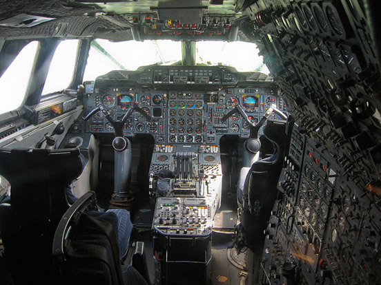 Concorde's cockpit layout