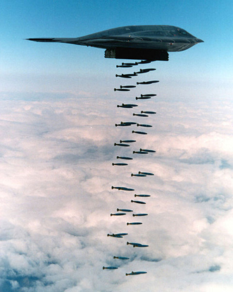 In a 1994 live fire exercise near Point Mugu, California, a B-2 Spirit dropped forty-seven 500 lb (230 kg) class Mark 82 bombs, which represents about half of a B-2's total ordnance payload in Block 30 configuration.