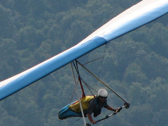 High performance flexible wing hang glider. 2006