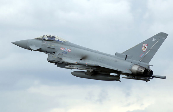 The Eurofighter Typhoon.