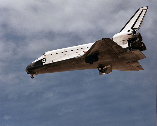 Rigid black LI-900 tiles are used on the Space Shuttle. (Shuttle shown is Atlantis.)