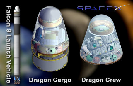 Profiles of Dragon Cargo and Dragon Crew (NASA)