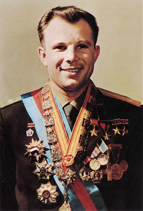 Yuri Gagarin, first person in space (1961).