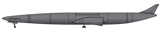 The Skylon spaceplane is a two engined, 'tailless' aircraft, which is fitted with a steerable canard