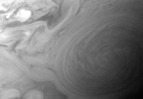 Enhanced view of Jupiter's