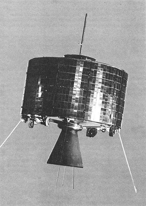 First generation Syncom satellite.