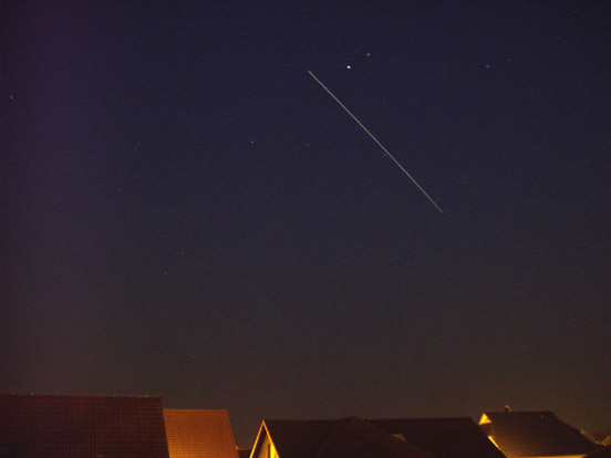 July 2007 sighting of the International Space Station