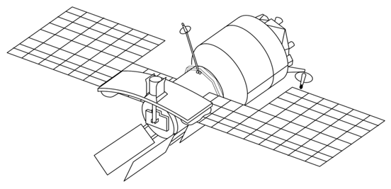 Almaz radar satellite (based on Almaz space station).