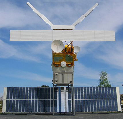 A full-size model of an Earth observation satellite from ESA, ERS 2.