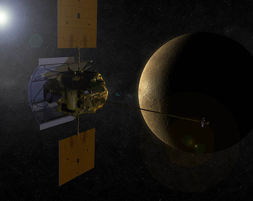 The MESSENGER spacecraft