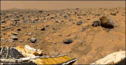 Rover off the pad to investigate a rock on Mars in 1997