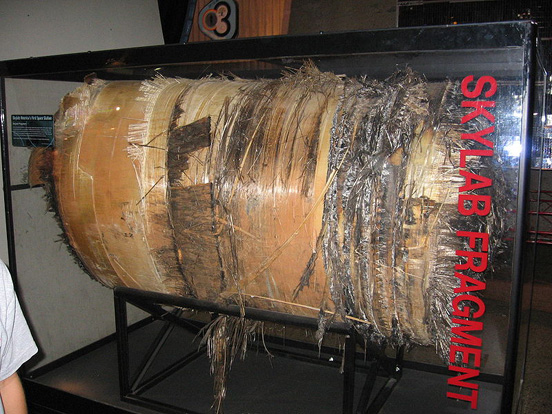 The largest fragment of Skylab recovered after its reentry through Earth's atmosphere. It is on display at the United States Space & Rocket Center.