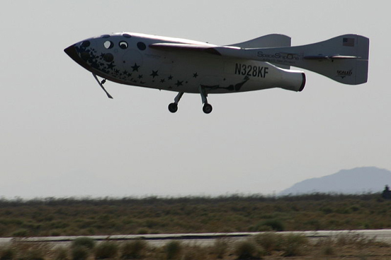 SpaceShipOne landing after its June 21, 2004 space flight