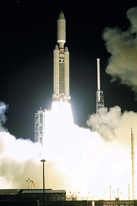 Launch occurred at 4:43 a.m. EDT (8:43 UTC) on October 15, 1997 from Launch Complex 40 at Cape Canaveral Air Force Station, Florida