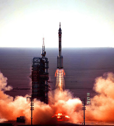 Launch of Shenzhou 5 in 2003