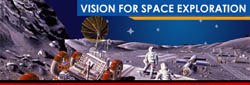 Promotional picture for NASA's Vision for Space Exploration
