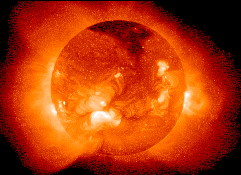 The Sun as seen in the x-ray region of the electromagnetic spectrum