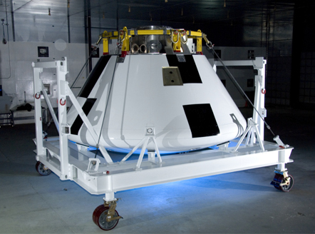 Orion crew module mock-up at Dryden Flight Research Lab