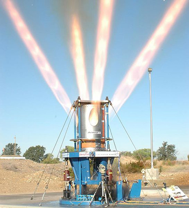 Aerojet Conducts Full-Scale Test Firing of Orion LAS Jettison Motor