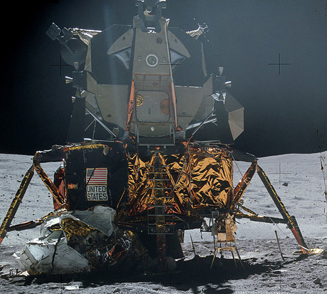 The Apollo Lunar Module on the lunar surface