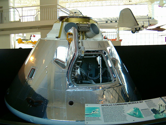 Unflown command module CM-007 at the Museum of Flight in Seattle
